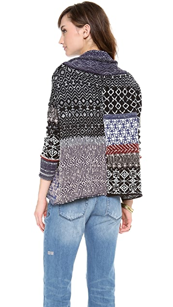 Free People Patchwork Pullover