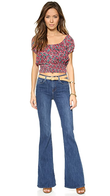 Free People Gypsy Road Smocked Top