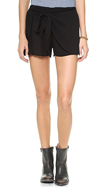 Free People Solid Sarong Shorts