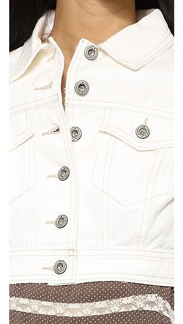 Free People Cropped Denim Jacket