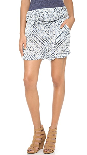 Free People Twisted Ikat Shorts