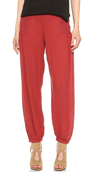 Free People Leighanna Smocked Pants