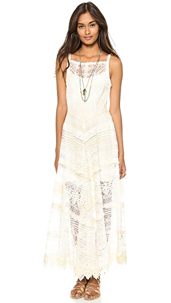 Free People Mitered Meadows Slip Dress