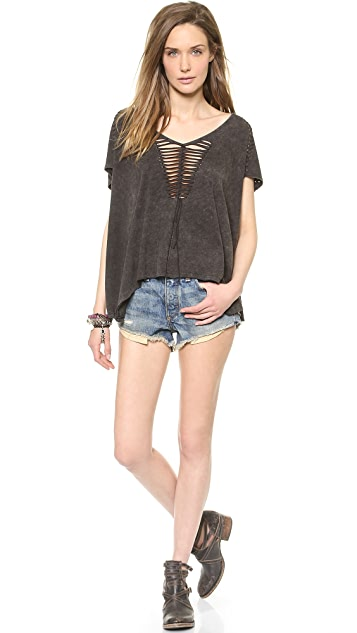 Free People Jersey City Too Cool for School Tee