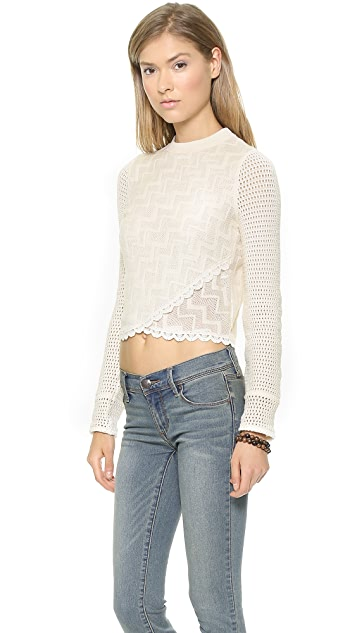 Free People Antoinette Long Sleeve Top