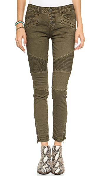Free People Steamed Moto Skinny Jeans
