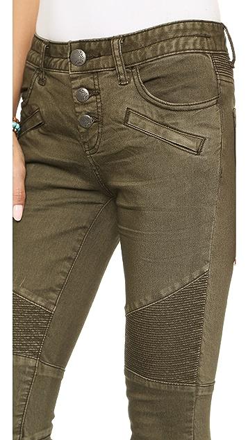 Free People Steamed Moto Skinny Jeans