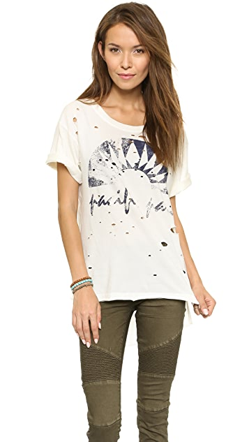 Free People Destroyed Boyfriend Graphic Tee