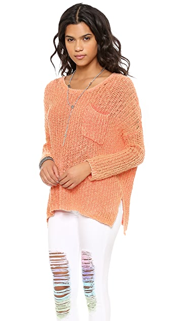 Free People Solid Greenwich Village Pullover