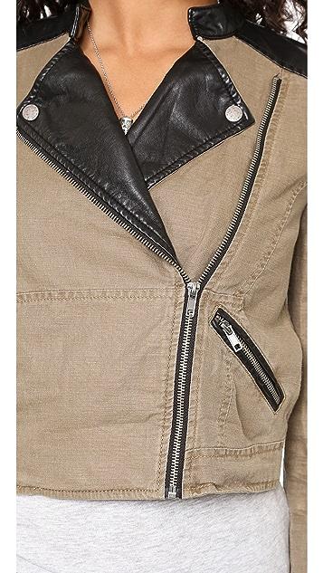 Free People Linen & Vegan Pieced Jacket