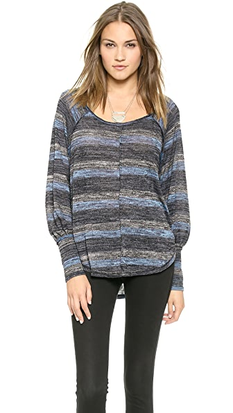 Free People Marled Up Carolina Hacci Top