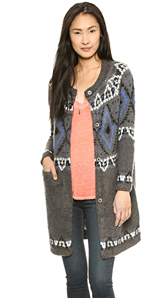 Free People Frosted Fairisle Cardigan