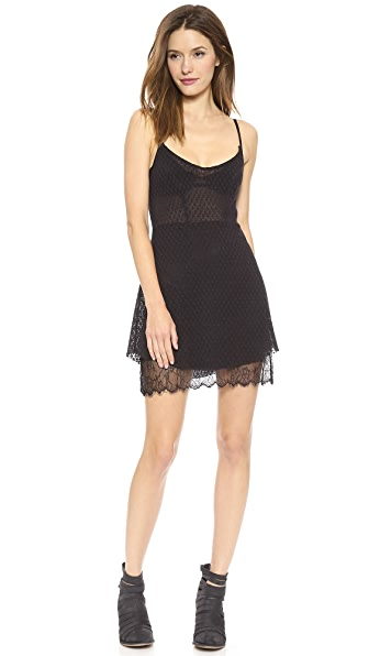 Free People Lace Mini Slip