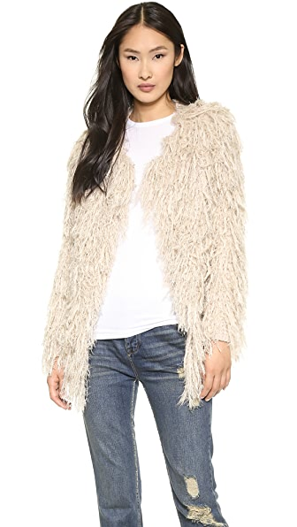 Free People Faithful Shaggy Cardigan