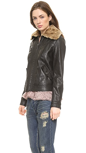 Free People Aviator Jacket