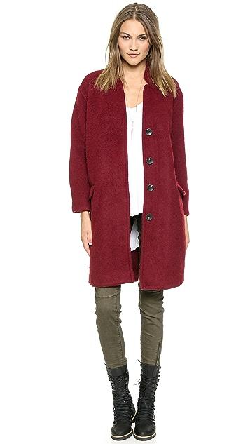 Free People Solid Long & Lean Overcoat