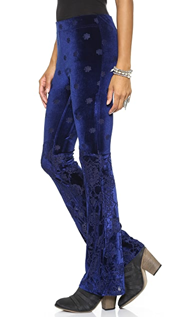Free People Velvet Babybell Pants