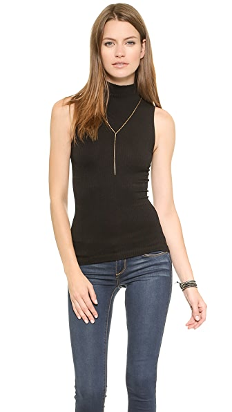 Free People Seamless Rib Mock Neck Cami