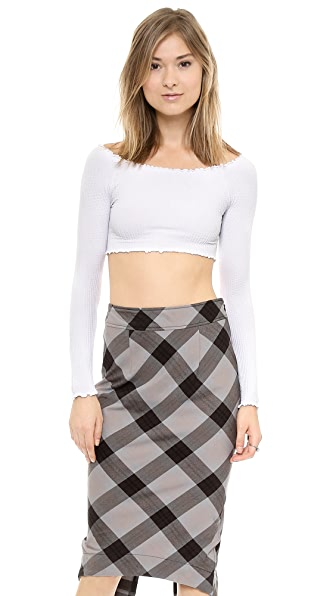 Free People Off Shoulder Crop Top