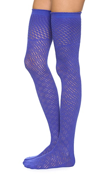 Free People Open Knit Thigh Highs