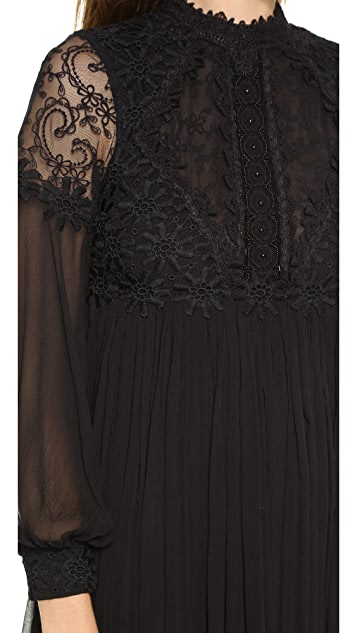 Free People Lou Lou Babydoll Party Dress