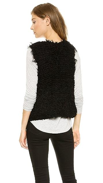 Free People Fur Away Vest