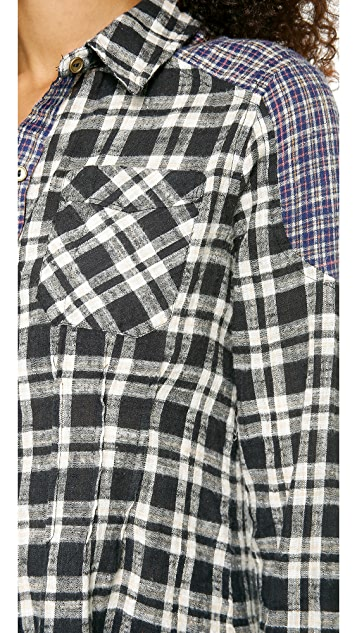 Free People Catch Up Plaid Top