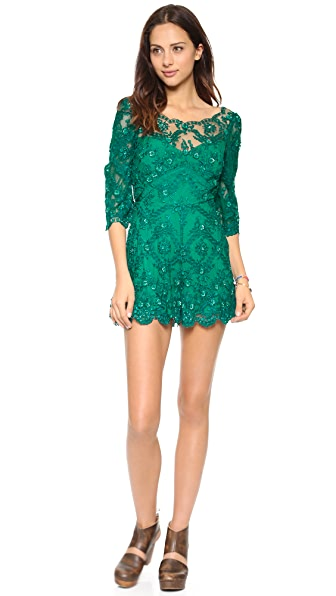 Free People Songbird Embellished Romper