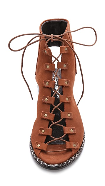 Free People Edgewater Lace Up Sandals