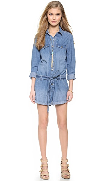 Free People Chambray Romper