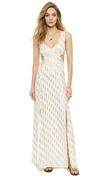 Free People Cross My Heart Jacquard Maxi Dress