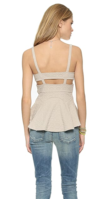 Free People Quilted Royalty Top