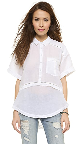Free People Weekend Escape Button Down Blouse | SHOPBOP