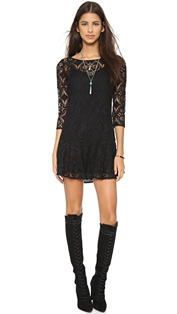 Free People Walking to the Sun Lace Dress