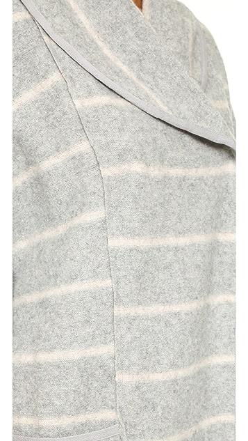 Free People Blanket Poncho Coat
