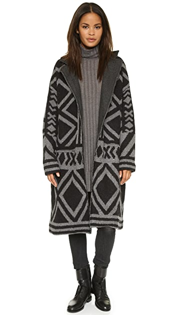 Free People Bold Geo Sweater Coat