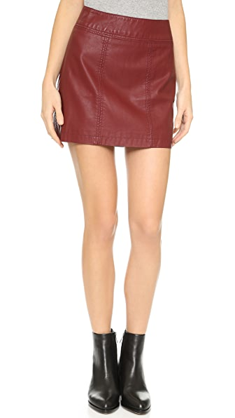 Free People Zip Vegan Leather Miniskirt | 15% off first app ...