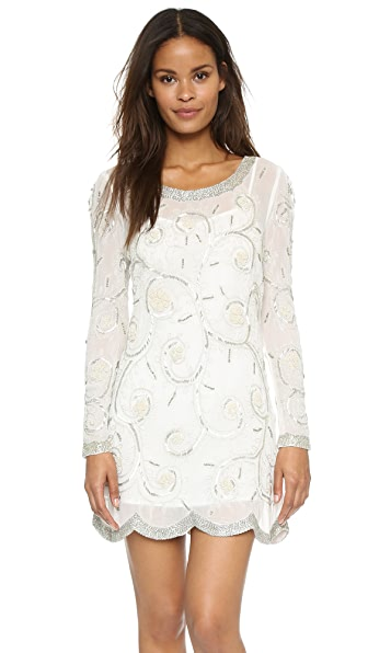 Shop Free People online and buy Free People Curling Vines Shift Dress Ivory Combo dresses online