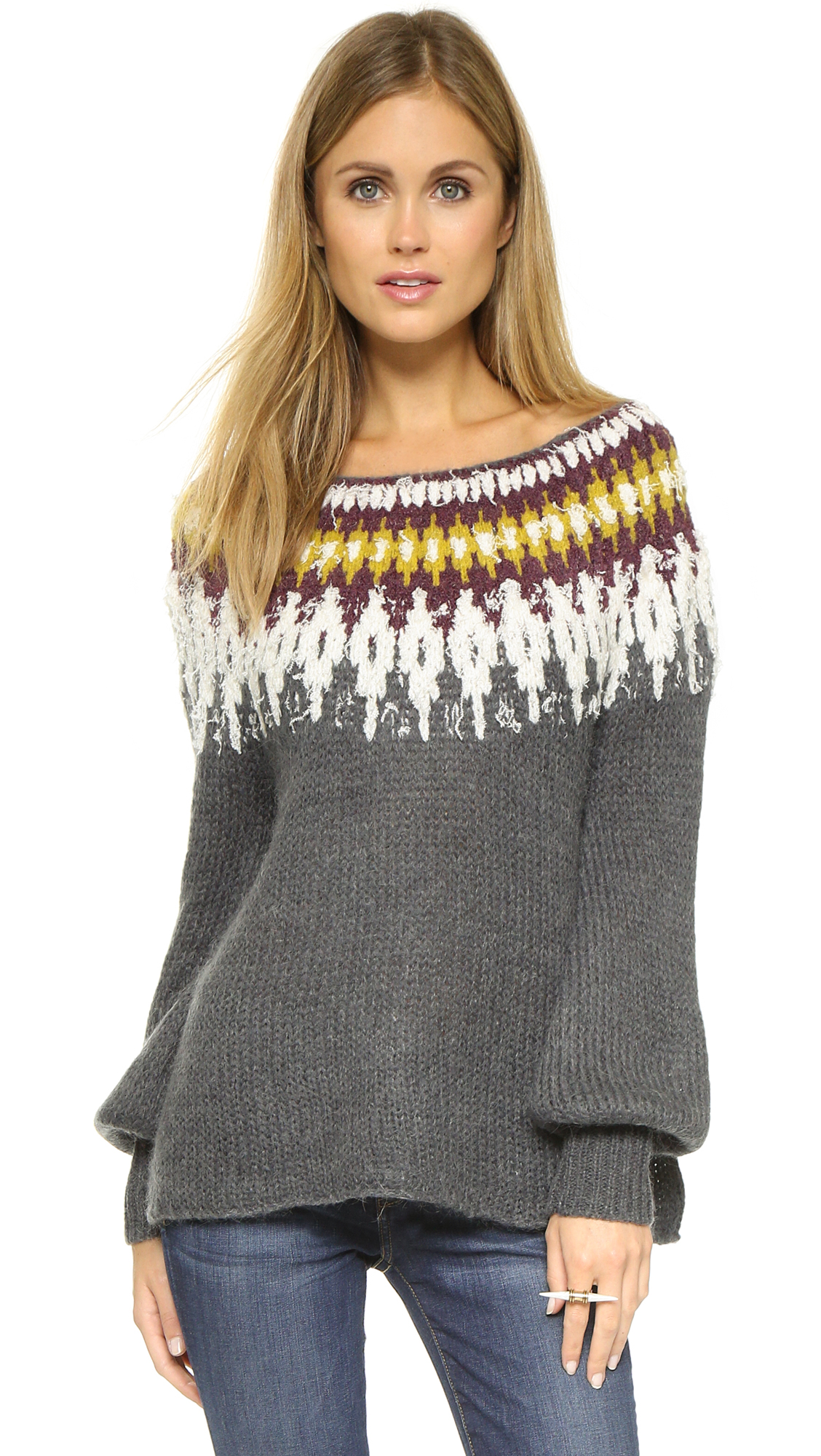 57d7eff028ab Free People Fair Isle Sweater
