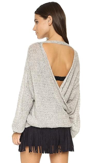 Free People Brandywine Drape Back Sweater