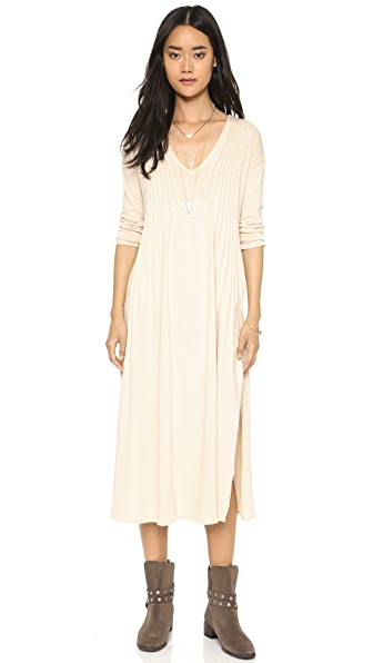Shop Free People online and buy Free People Sophie'S Midi Tee Dress Champagne dresses online