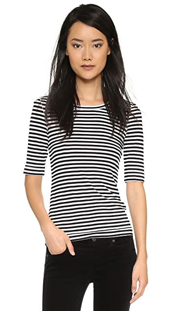 Free People Striped Leader of the Pack Tee