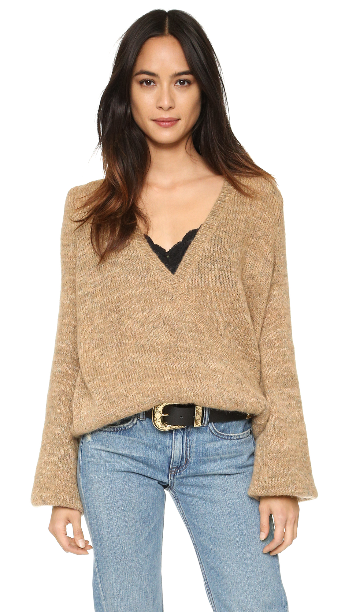 Free People Karina Wrap Sweater