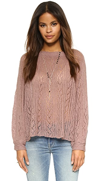 Free People Lights Will Shine Pullover In Dusty Pink