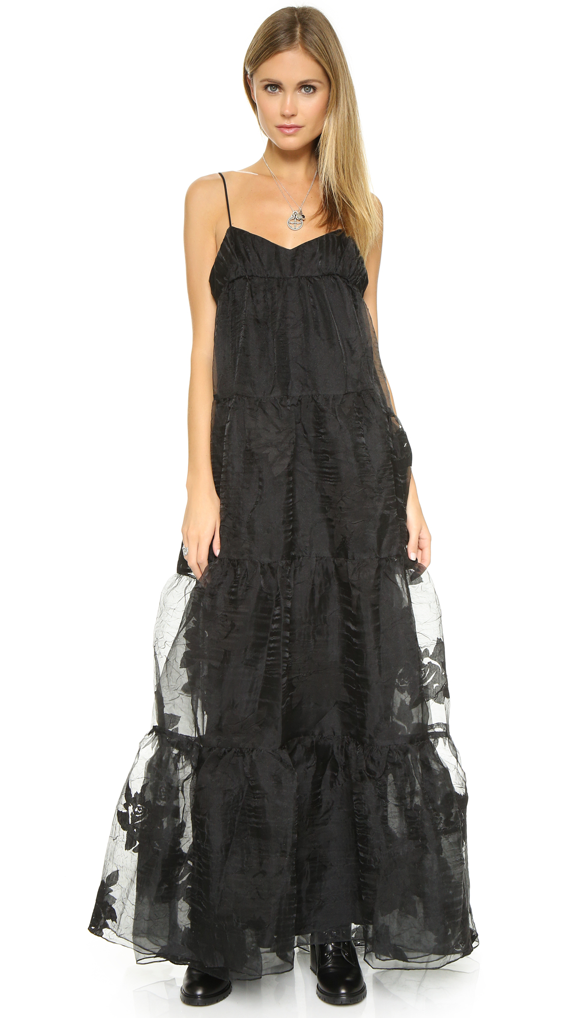 Free People Black Rose Tiered Maxi Dress | SHOPBOP