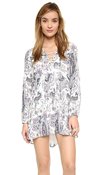 Free People Rain Or Shine Print Dress