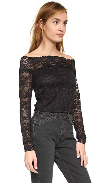 Free People Barely There Lace Top