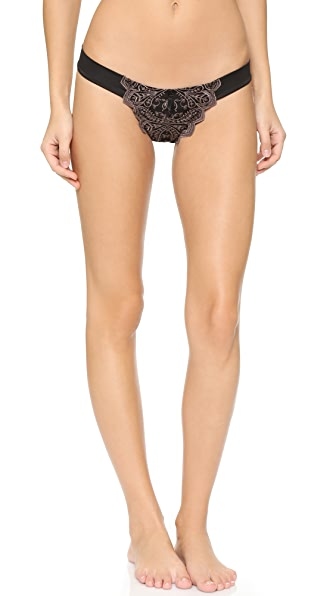 Free People Make Your Point Thong In Black