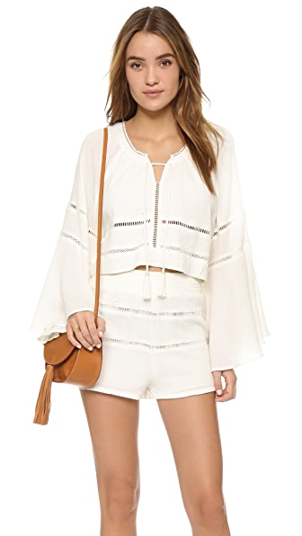 Free People Mi Corazon Top & Shorts Set