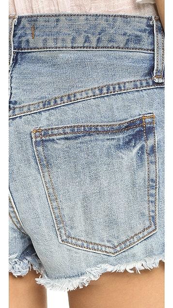 Free People Rock Denim Uptown Shorts
